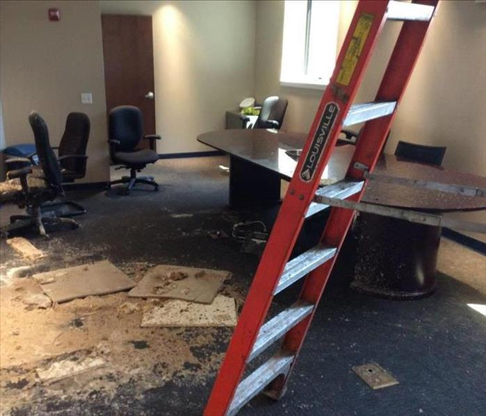 Water Damage Large Office Building Flood
