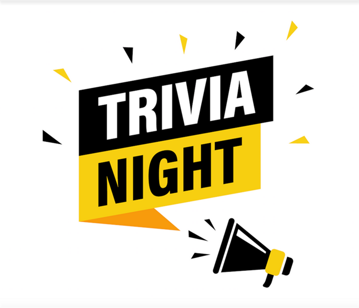 a logo that says trivia night